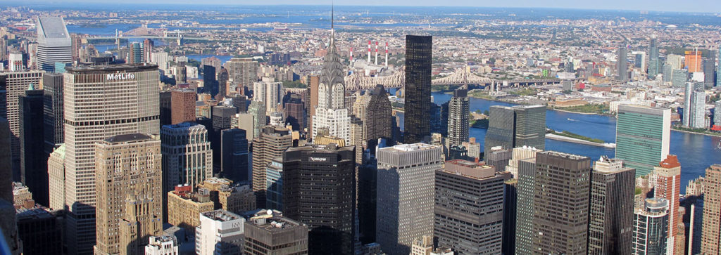 A Photo of Manhattan's skyscrapers